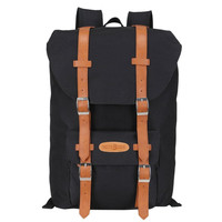 Leather College Backpack Ourdoor Daypack Laptop Travel Bag