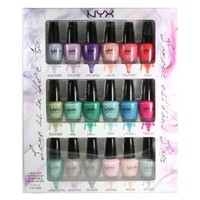 NYX Cosmetics Love Is In the Air Limited Edition 18 pcs Mini Nail Polish Set NPSET02