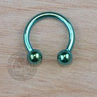 Green Steel Horseshoe