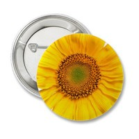 Sunny The Sunflower Pins from Zazzle.com