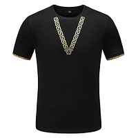 Versace Casual Men Scoop Neck  Shirt Top Tee