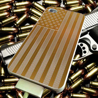 American Flag Gold Brick for iPhone 4/4s/5/5s/5c/6/6 Plus Case, Samsung Galaxy S3/S4/S5/Note 3/4 Case, iPod 4/5 Case, HtC One M7 M8 and Nexus Case ***