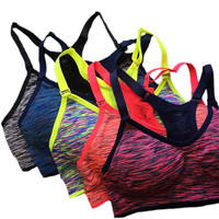 Sports Bra Fitness Yoga Running Gym Activewear Padded Wire-Free Quick Dry