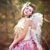 """Avian""-Fairy Tutu and Corset-tutu-Photoprop-photography-wings"