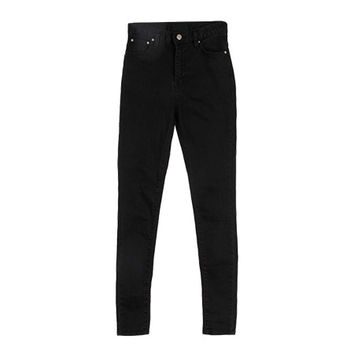 All-Black High-Waist Skinny Jeans