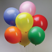 Latex Solid Balloons, 12-inch, 12-Piece, Multi-Color