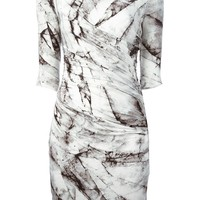 Helmut Lang marble print fitted dress