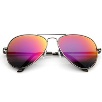 Premium Retro Flash Mirrored Lens Aviator Sunglasses 1488