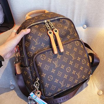 Inseva LV Louis vuitton hot seller of fashionable ladies with monogrammed monogrammed high-volume backpacks