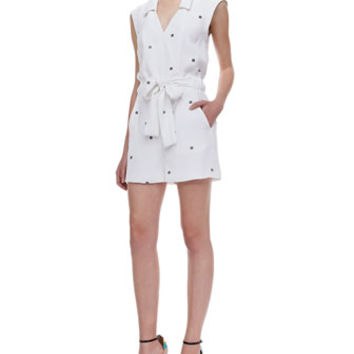 Opening Ceremony Daisy Printed Tie-Waist Jumpsuit