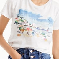 Marcel George™ for J.Crew beach watercolor T-shirt in vintage cotton : Women gallery tees   J.Crew