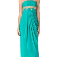 Marchesa Notte Beaded Strapless Gown | SHOPBOP