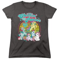My Little Pony Womens T-Shirt Chillin with my Ponies Charcoal Tee