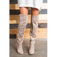 Sugar Land Over The Knee Boots (Taupe)