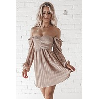 All That Glitters Rose Gold Shimmer Dress