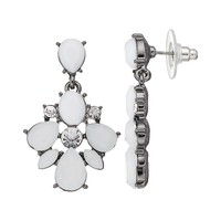 Simply Vera Vera Wang Drop Earrings (White)