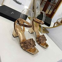 ysl women casual shoes boots fashionable casual leather women heels sandal shoes 76