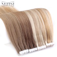 """Neitsi Mini Tape In None Remy Human Hair Adhesive Extension 16"""" 20"""" 2.0g/s 10/20/40pcs 13 Colors Straight Skin Weft Hair"""