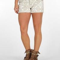 Miss Me Frayed Hem Stretch Short