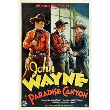 Paradise Canyon John Wayne Vintage Western Movie Poster