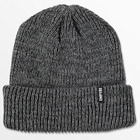 Empyre Carter Marled Heather Grey & Black Fold Beanie | Zumiez