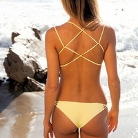 Frankies Bikinis Kaia bottom in yellow