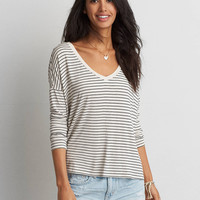 AEO Soft & Sexy Drop Shoulder T-Shirt, Oatmeal