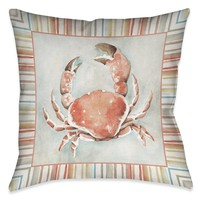 Coastal Mist Crab Indoor Decorative Pillow