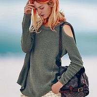 Free People Womens Sunset Open Shoulder Pullover