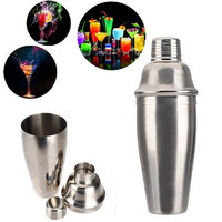 High luster and elegant appearance 750ml Stainless Steel 25oz Bar Party Cocktail Martini Shaker Wine Mixer Drink Portable