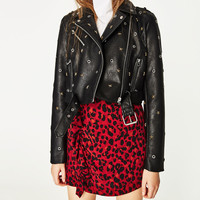 BIKER-STYLE JACKET WITH STARS AND STUDS