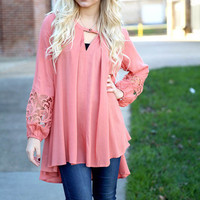 Very Superstitious Top - peach