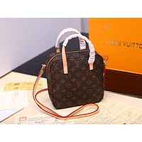 LV Louis Vuitton Women's Tote Bag Handbag Shopping Leather Tote Crossbody Satchel 1226
