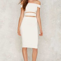 Making the Cut-Out Dress - White