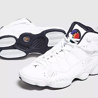Air Jordan 6 Rings AJ6 new white wild casual shoes basketball shoes