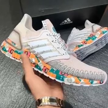ADIDAS ULTRABOOST 20 limited edition woven breathable soft bottom wild casual running shoes