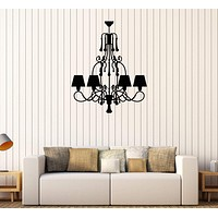 Vinyl Wall Decal Chandelier Home Interior Room Stickers Unique Gift (638ig)
