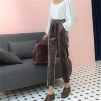 VELOUR MUJ TROUSERS