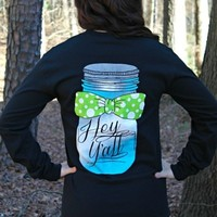 Preppy Mason Jar Long Sleeve Tee
