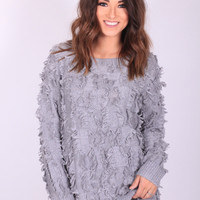 Shag It Out Sweater (Grey)