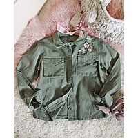 Army Rose Shirt Jacket