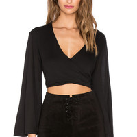 Blue Life Hayley Crop Top in Black