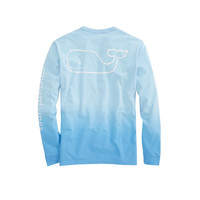Long-Sleeve Dip Dyed Vintage Whale Pocket T-Shirt