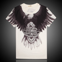 Embroidery Short Sleeve Tee Summer Men's Fashion T-shirts = 4810530244