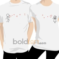 BoldLoft From My Heart to Yours Couple T-Shirts, I Love You Couple Tee