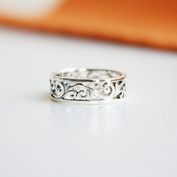 Designed Ring - Carving Pattern r25