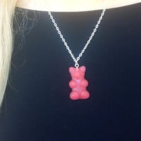 Red Gummy Bear Necklace Red Gummi Bear Necklace