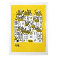 Town Print Tea Towel By Lisa Jones   Folly Home   Design-led Gifts, Home wares, Vintage Finds
