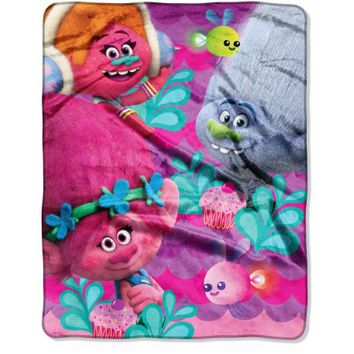 "DreamWorks Trolls Sugar Overload 40"" x 50"" Silk Touch Throw - Walmart.com"