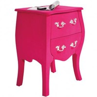 NEW! Frolic Flocked Pink Bedside Table|Bedside Tables|Tables|French Bedroom Company